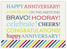 Colorful White Wordy Anniversary