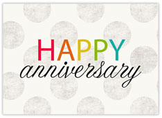 Colorful Gray Dots Anniversary