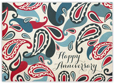 Red Blue Paisley Anniversary