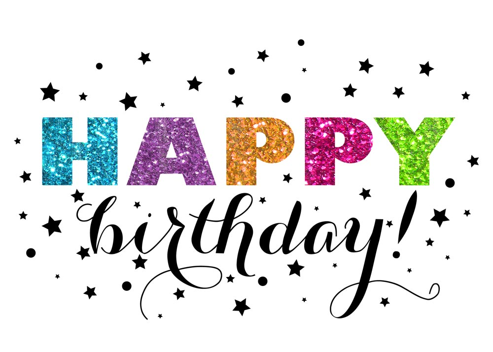 Glitter Starry Birthday - Birthday Cards from CardsDirect