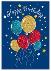 Glitter Balloons Birthday