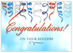 Springy Ribbon Congrats