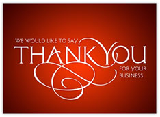 Red Thank You Scroll