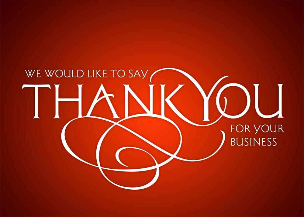 Company thank you card shefftunes company thank you card reheart Images