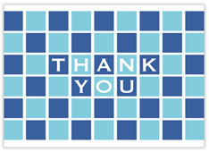 Blue Checkerboard Thanks