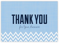 Blue Chevron Thank You