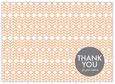 Caramel Chevron Thank You