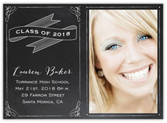 Chalkboard Ribbon Graduation
