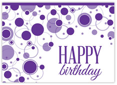 Geometric Purple Birthday Card