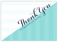 Teal Chevron Thank You