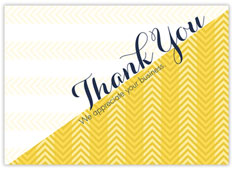 Marigold Chevron Thank You