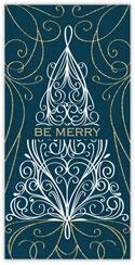 Merry Teal Swirls