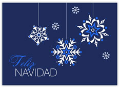 Snowflakes Feliz Navidad
