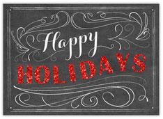 Chalkboard Happy Holidays
