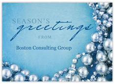 Season's Greetings Pearl Card