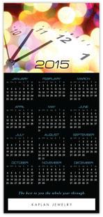 Clock Calendar Card
