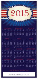 Patriotic Calendar Card