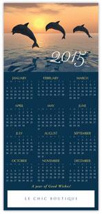2015 Dolphin Calendar Card