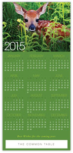 2015 Wildlife Calendar Card