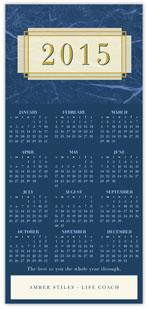 2015 Blue Marble Calendar Card