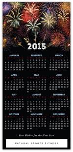 Fireworks Calendar Card