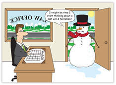 Law Office Snowman Card