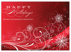 Vibrant Swirls Holiday Card