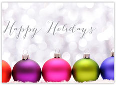 Colorful Ornaments Holiday Card