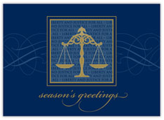 Legal Scales Holiday Card