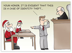 Legal Identity Theft Holiday Card