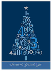 Christmas Tree Numbers Accounting Card
