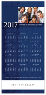 Professional Blue Photo Calendar Card