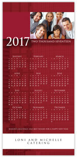 Professional Red Photo Calendar Card