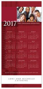 Professional Red Photo Calendar Card