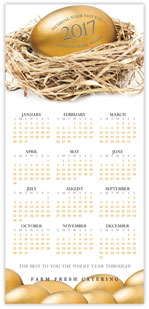 Financial Stock Investment Calendar Card