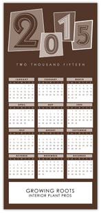 Brown Identity Calendar Card