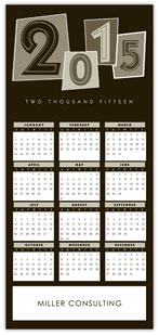 Black Identity Calendar Card