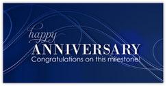 Swirly Blue Anniversary