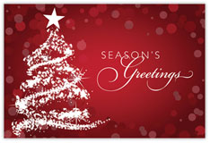 Sparkling Season Holiday Postcard