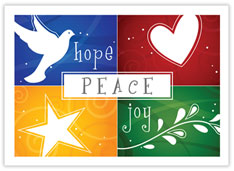 Colorful Hope Peace Joy