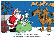 Accounting Santa Holiday Card