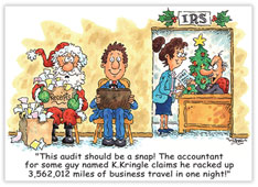 Santa - IRS Accounting Card