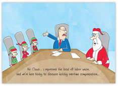 Elf Labor Legal Holiday Card