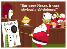 Elf-Defense Legal Christmas Card