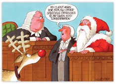 Speedy Santa Legal Holiday Card