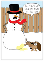 Silly Snowman Legal Card