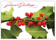 Holiday Green Christmas Card