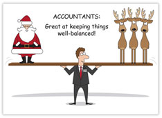 Holiday Balance Accounting Card