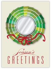 Remodeled Wreath Christmas Card