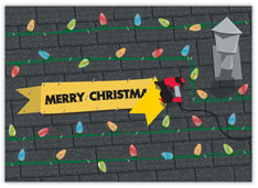 Topside Greeting Roofing Christmas Card